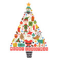 christmas tree of the holiday characters vector image vector image