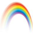 colorful rainbow shining blurred vector image vector image