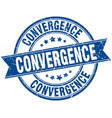 convergence round grunge ribbon stamp vector image vector image