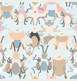 cute insect bug cartoon pattern vector image