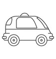 driverless car icon outline style vector image vector image