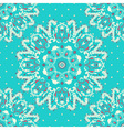 elegance lace pattern on a blue background vector image