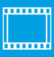 film with frames movie icon white vector image vector image