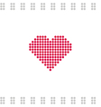 Greeting card with grey circles and red heart vector image vector image