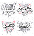 happy valentine s day vintage vector image