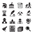 history archaeology icons vector image vector image