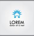 home tile logo vector image vector image