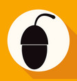 icon acorn on white circle with a long shadow vector image