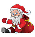 image with santa claus theme 1 vector image vector image