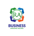 letter ra community property agent vector image