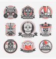 mexican vintage isolated label set vector image vector image