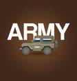 military army car banner with ground forces vector image