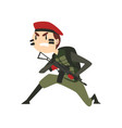 military man with gun warlike soldier character vector image vector image