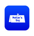 mother day postcard icon digital blue vector image