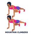 mountain climbers sport exersice silhouettes of vector image vector image