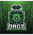 orc esport mascot logo designmirror vector image