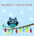 owl snow family lights vector image vector image