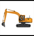 powerful excavator crawler vector image vector image