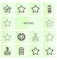 rating icons vector image vector image
