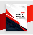 red annual report or business flyer template vector image vector image