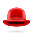Red bowler hat vector image