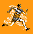 running man or sportsman sport fitness poster vector image vector image