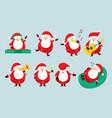 santa claus characters set party concept vector image