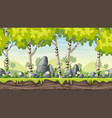 seamless cartoon spring landscape vector image