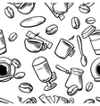 Seamless Coffee Pattern hand drawn vintage vector image vector image