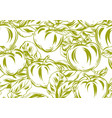 seamless pattern with apples and leaves vector image vector image