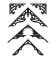 set of victorian gingerbread architectural trim il vector image vector image