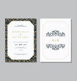 set of vintage wedding invitation card with vector image vector image