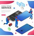 smartphone repair service vector image