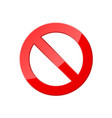stop icon for web and app red crossed circle ban vector image