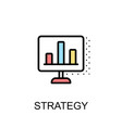 strategy icon isolated background with vector image