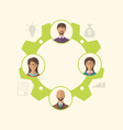 unity of business people leading to success vector image vector image