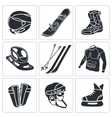 Winter sports icon set vector image