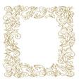 Elegant Floral frame Golden outline vector image