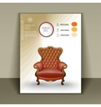 design booklet with a luxurious chair for vector image