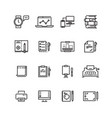creative science writing tools line icons set vector image