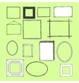 Hand Drawn Frames Doodles Isolated vector image