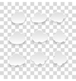 messages in the form of clouds Icon vector image