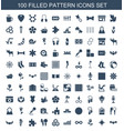 100 pattern icons vector image vector image