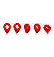 3d map pointer red navigator symbol isolated on vector image vector image