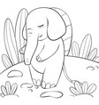 a children coloring bookpage an elephant on the vector image