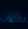 abstract digital wave of particles futuristic vector image