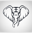african elephant logo icon design vector image