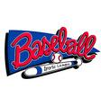 baseball sports league children banner background vector image vector image