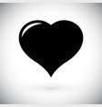 black heart simple icon vector image