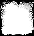 Black Silhouette of a Forest vector image vector image